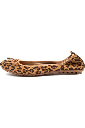 Django & Juliette Belin Tan Leopard Tan Shoes Womens Shoes Casual Flat Shoes