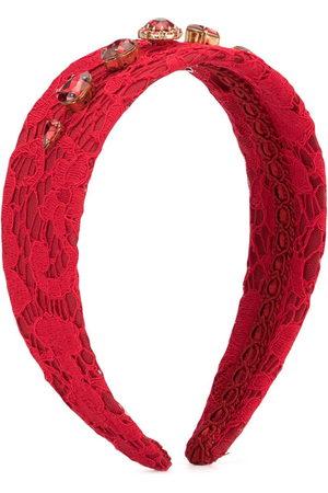 Dolce & Gabbana Crystal-embellished lace headband