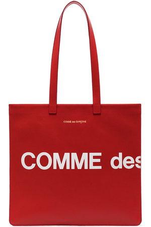 Comme Des Garçons Wallet Tote Bags - Logo print tote bag