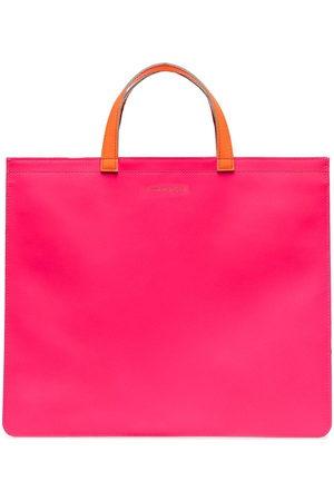 Comme Des Garçons Wallet Colour-block square tote bag