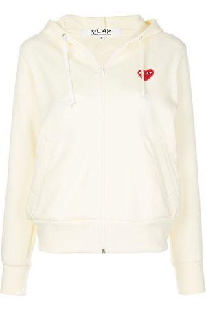 Comme des Garçons Heart-patch zip-up hoodie