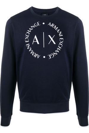 Armani Exchange Printed logo crest sweatshirt