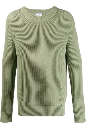 Ami Paris Ribbed roll-neck knitted sweater