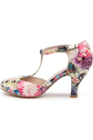 I LOVE BILLY Marie Flower Garden Shoes Womens Shoes Casual Heeled Shoes