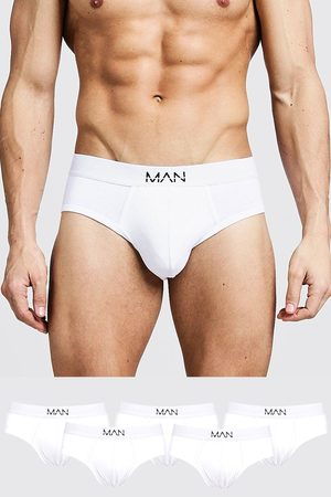 Boohoo Mens 5 Pack MAN Dash Briefs