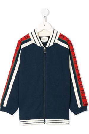 Gucci Kids Contrasting panelled zipped sweatshirt
