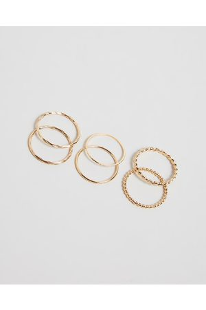 Orelia Mixed Multi Ring Pack - Jewellery (Pale ) Mixed Multi Ring Pack