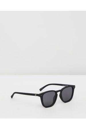 Le Specs No Biggie Unisex - Square ( Rubber & Smoke Mono) No Biggie - Unisex