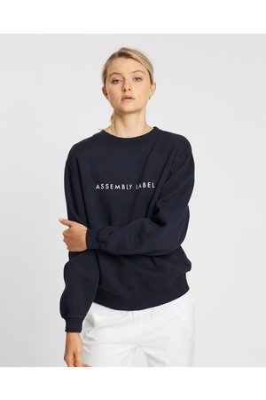 Assembly Label Logo Fleece Sweater - Sweats (True Navy) Logo Fleece Sweater