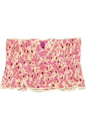 Poupette St Barth Kids Printed smocked bandeau