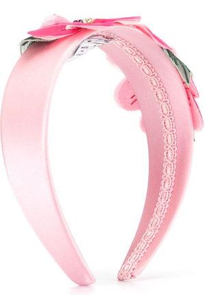 Dolce & Gabbana Flower-embellished satin headband