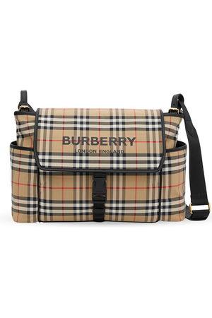 Burberry Logo-print checked baby changing bag