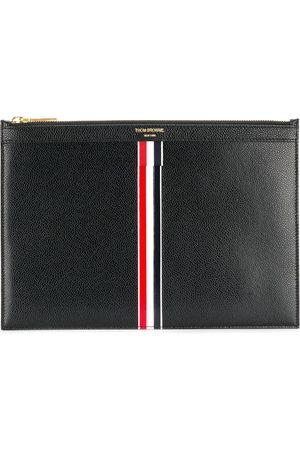 Thom Browne Men Tablet Cases - Vertical Intarsia stripe small tablet holder