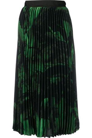 OFF-WHITE Brushstroke plissé skirt