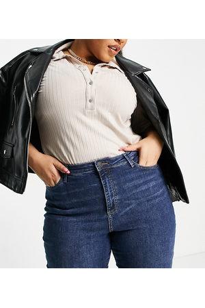 Vero Moda Curve skinny jean in mid blue