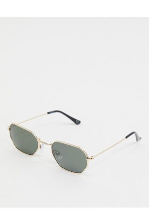 Jeepers Peepers hexagonal sunglasses in gold