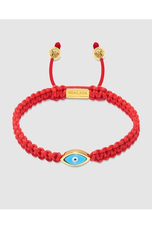 Nialaya Men's String Bracelet With Evil Eye - Jewellery Men's String Bracelet With Evil Eye