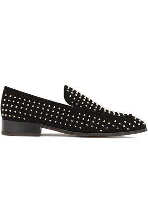 Giuseppe Zanotti Micro-stud embellished loafers
