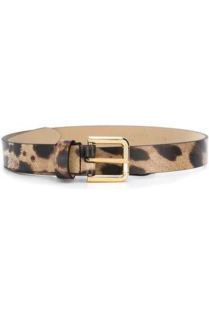 Dolce & Gabbana Girls Belts - Leopard-print belt