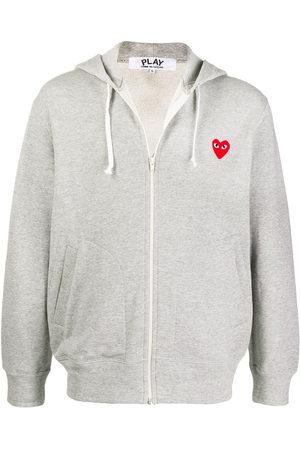Comme des Garçons Logo embroidered zipped hoodie