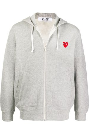 Comme Des Garçons Play Logo embroidered zipped hoodie