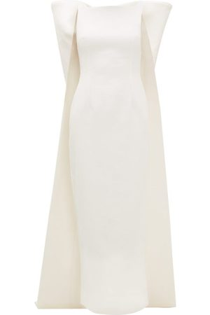 EMILIA WICKSTEAD Cruz Bow-appliqué Cloqué-crepe Dress - Womens - Ivory