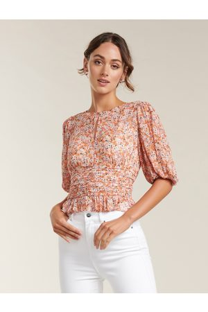 Forever New Harper Ditsy Puff Sleeve Blouse