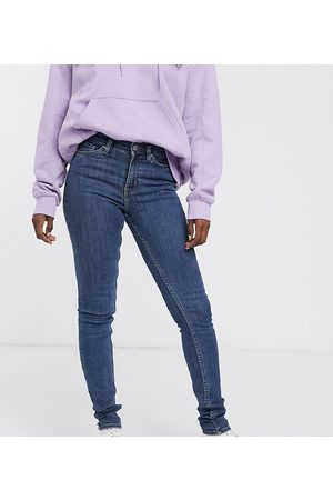 Weekday Body organic cotton super stretch skinny jeans in mid blue