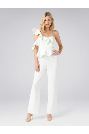 Forever New Lourdes Wide Leg Frill Jumpsuit