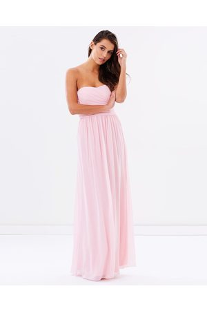 SKIVA Strapless Chiffon Evening Dress - Bridesmaid Dresses Strapless Chiffon Evening Dress