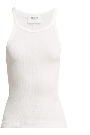 RE/DONE Ribbed Cotton Tank Top - Womens