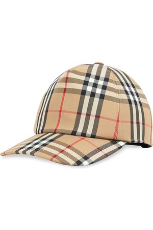 Burberry Women Caps - Check print baseball cap