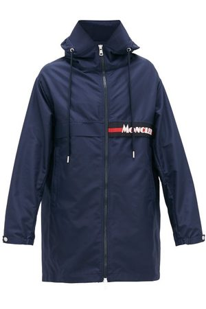 Moncler Logo-patch Technical-fabric Parka - Mens - Navy