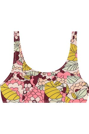 DODO BAR OR Floral bikini top