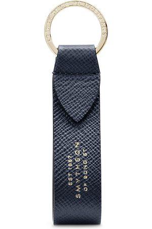 SMYTHSON Panama Keyring with Leather Strap