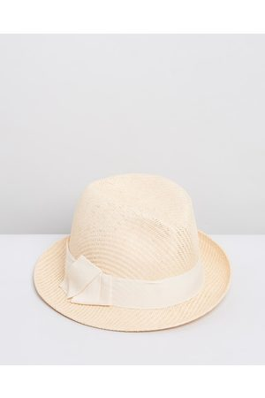 Max Alexander Straw Trilby Hat - Hats (Natural) Straw Trilby Hat