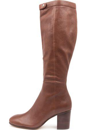 Django & Juliette Theola Choc Boots Womens Shoes Casual Long Boots
