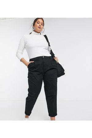 ASOS DESIGN Curve chino pants in black