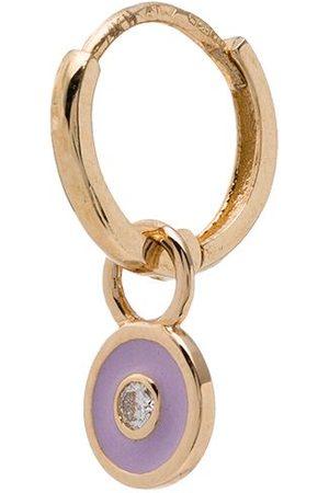 ALISON LOU 14kt gold lilac diamond bezel earring