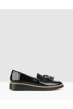 Airflex Women Loafers - Dori Leather Loafers - Flats ( Pat) Dori Leather Loafers