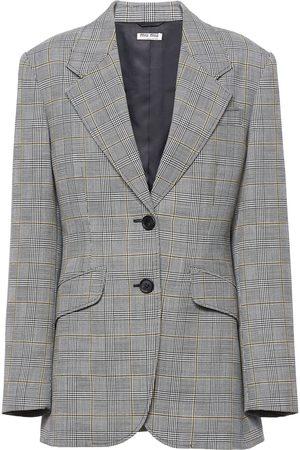 Miu Miu Prince of Wales checked wool jacket