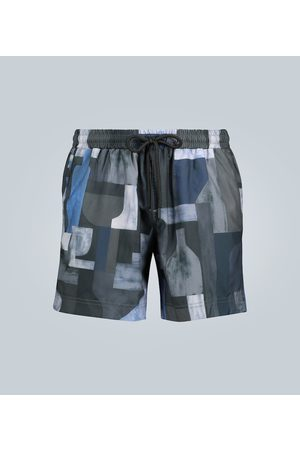 Commas Printed swim shorts