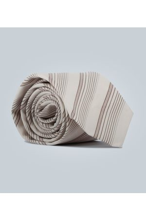 EDITIONS M.R Diagonal striped tie