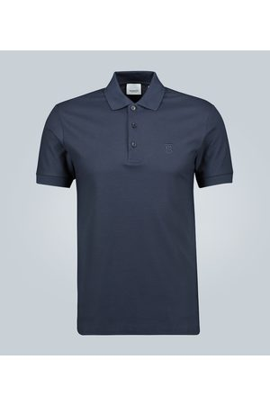 Burberry Checked placket cotton polo shirt