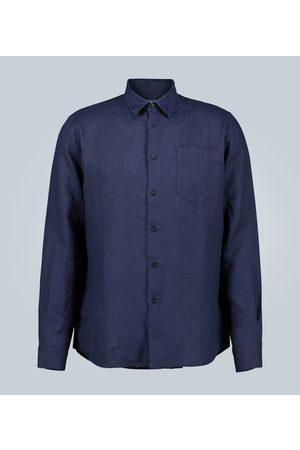 Vilebrequin Men Shirts - Caroubis linen shirt