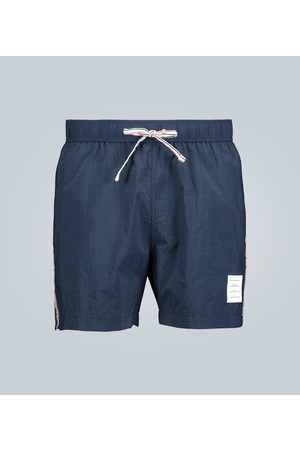 Thom Browne Grosgrain-trimmed swim shorts