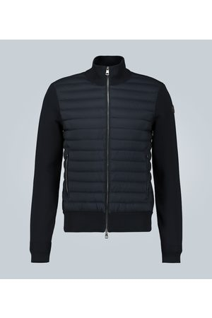 Moncler Tricot cardigan with down-filled front