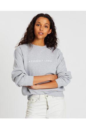 Assembly Label Logo Fleece Sweater - Sweats ( Marle) Logo Fleece Sweater