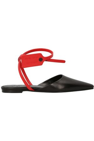 OFF-WHITE Zip Tie sandals in leather