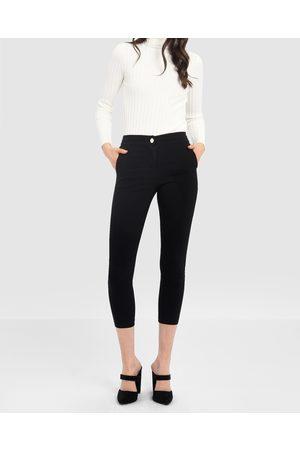Forcast Women Skinny Pants - Janette Slim Cropped Pants - Pants Janette Slim Cropped Pants
